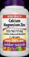 Calcium, Magnesium, Zinc 333 mg/167 mg/17 mg Webber Naturals