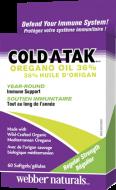 Cold-A-Tak + Oregano oil 36 % Webber Naturals