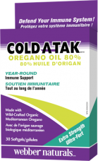 Cold-A-Tak oregano oil 80 % Webber Naturals
