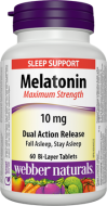 Melatonin 10 mg s postupným uvoľňovaním Webber Naturals