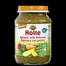 HOLLE detská výživa špenát, zemiaky (od ukončeného 4 mesiaca)