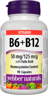 Vitamín B6 + B12 + kyselina listová Webber Naturals
