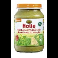 Detská výživa brokolica, hnedá ryža od 4 mesiaca Holle