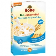 HOLLE celozrnné müsli s corn flakes (od 10 mesiaca)