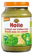 HOLLE detská výživa brokolica, hnedá ryža (od 4 mesiaca)