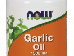 Garlic oil 1500 mg Now Foods