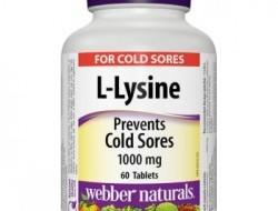 L-Lysine 1000 mg Webber Naturals