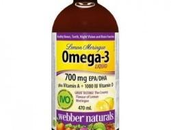 Omega-3, Vitamin A + D Webber Naturals