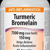 Turmeric, Bromelain 300/150 mg Webber Naturals