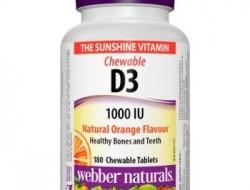 D3 vitamin 1000 IU Natural Orange Webber Naturals