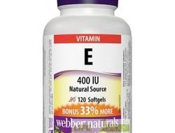 E vitamin 400 IU Webber Naturals