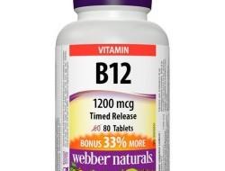 B12 1200 mcg Webber Naturals