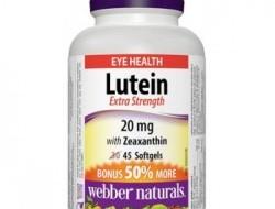 Lutein, Zeaxanthin 20 mg Webber Naturals