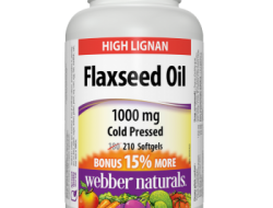 Flaxseed Oil 1000 mg Webber Naturals