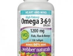Omega 3-6-9 1200 mg Webber Naturals