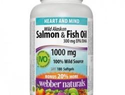 Omega-3 Salmon & Fish 1000 mg Webber Naturals
