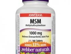 MSM 1000 mg Webber Naturals