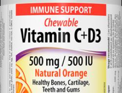 C + D3 vitamin 500 mg/500 IU Webber Naturals
