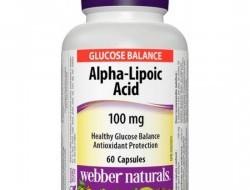 Alpha-Lipoic Acid 100 mg Webber Naturals