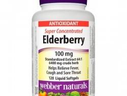 Elderberry 100 mg Webber Naturals