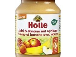 HOLLE detská výživa jablko, banán, marhuľa (od ukončeného 6 mesiaca)