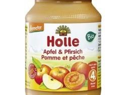 HOLLE detská výživa jablko, broskyňa (od ukončeného 4 mesiaca)
