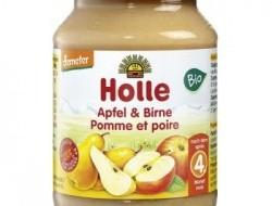 HOLLE detská výživa jablko, hruška (od ukončeného 4. mesiaca)