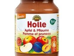HOLLE detská výživa jablko, slivka (od ukončeného 6 mesiaca)