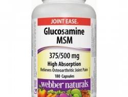Glucosamine, MSM 375/500 mg Webber Naturals