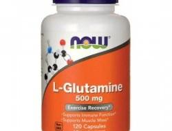 L-Glutamine 500 mg Now Foods