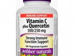 C vitamin plus Quercetin 500/250 mg Webber Naturals