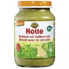 HOLLE detská výživa brokolica, hnedá ryža (od ukončeného 4 mesiaca)