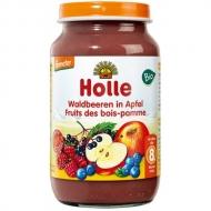HOLLE detská výživa jablko, lesná zmes (od ukončeného 8 mesiaca)