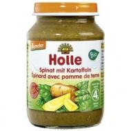 HOLLE Detská bio výživa (príkrm) špenát a zemiaky od 4. mesiaca