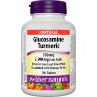 Glucosamine, Turmeric 750 mg Webber Naturals
