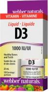 D3 vitamin 1000 IU kvapky Webber Naturals