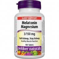 Melatonin, Magnesium 3/150 mg Webber Naturals