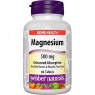 Horčík (Magnézium) 500 mg Webber Naturals