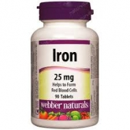 Iron 25 mg Webber Naturals
