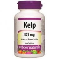 Kelp (Jód) 575 mg Webber Naturals