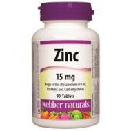 Zinok 15 mg Webber Naturals