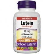 Luteín 20 mg + Zeaxantín Webber Naturals