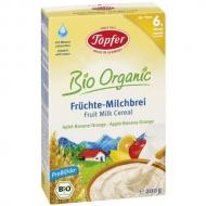 Detská BIO mliečna kaša s ovocím jablko, banán a pomaranč od 6. mesiaca Topfer