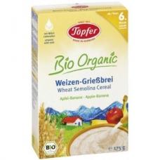 Detská BIO viaczrnná mliečna kaša s jablkom a hruškou od 6. mesiaca Topfer