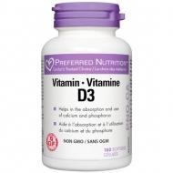 D3 vitamin 1000 IU Preferred Nutrition Webber Naturals