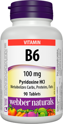B6 100 mg Webber Naturals