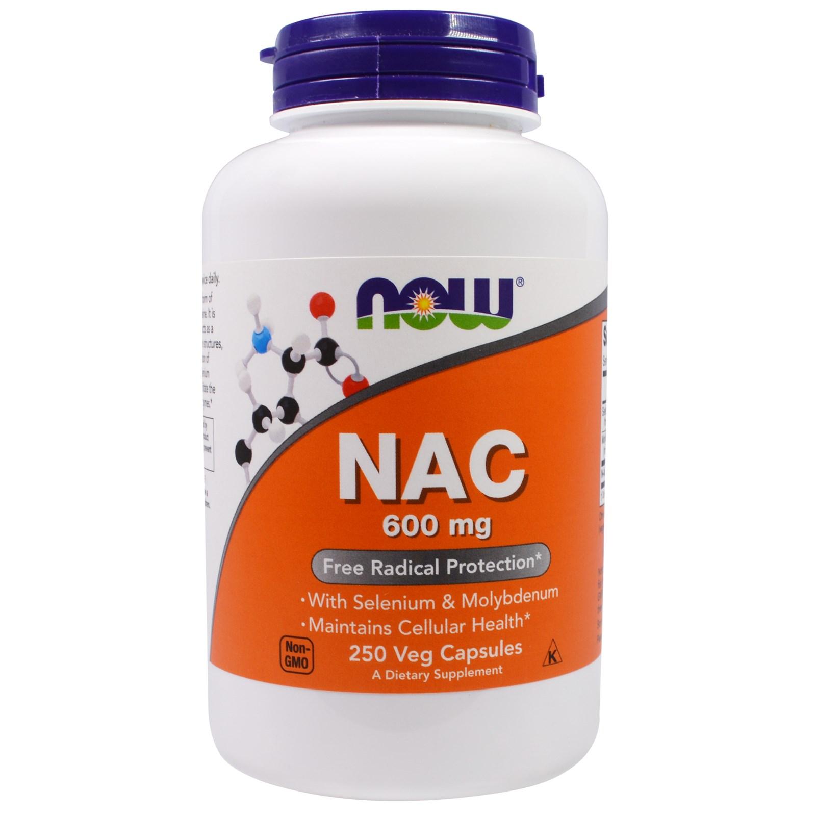 nac n-acetyl cyste u00edn 600 mg now foods