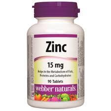 Zinc 15 mg Webber Naturals